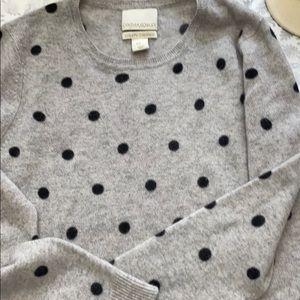 Cynthia rowley grey dot sweater